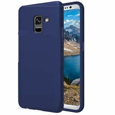 COVER Custodia Morbida Blu GEL Silicone per Samsung Galaxy A8 2018