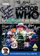 More details for doctor who - remembrance of the daleks dvd -signed by 12 cast & crew + bfi stuff