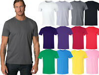Men/ Unisex Crewneck Premium Basic Workout T-shirt Extra Soft 100% Cotton S-6X