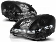 LED HEADLIGHTS RHT LPVWA6 VW POLO 9N3 2005 2006 2007 2008 2009 BLACK