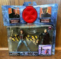 Wolverine & Magneto Vintage X-Men Movie Action Figures Set New 2000 Toybiz Logan