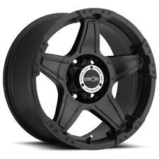 "4-Vision 395 Wizard 18x9 6x135 -12mm Matte Black Wheels Rims 18"" Inch"