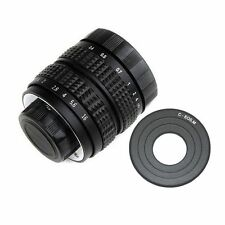 FUJIAN 25mm f/1.4 C Mount CCTV f1.4 Lens for Canon Mirrorless Camera EOS M M2 M3