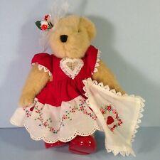 Muffy VanderBear HEARTS AND FLOWERS BEAR w/ tag