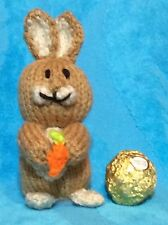 KNITTING PATTERN  - Easter Bunny Rabbit chocolate cover fits Ferrero Rocher