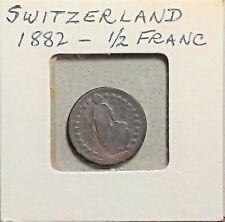 1882 SWISS 1/2 FRANC