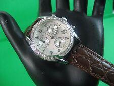 BULOVA 96R134 21 REAL DIAMONDS CHRONOGRAPH LADIES WATCH S/S WHITE PEARL DIAL