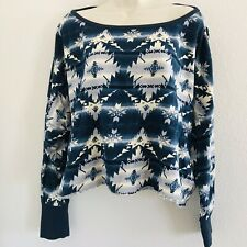 RALPH LAUREN DENIM & SUPPLY OVERSIZED CROP AZTEC SOUTHWESTERN SWEATSHIRT XL