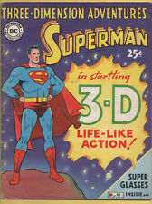 Three Dimension Adventures - Superman 3-D DC 1953 Glasses included VG