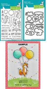 Lawn Fawn REALLY HIGH FIVE Clear Stamps & Lawn Cuts Die Set NEW 2020