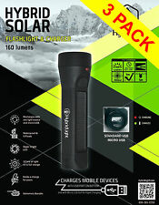 160 Lumens SOLAR Rechargeable Torch LED WATERPROOF Flashlight  Camping Fishing