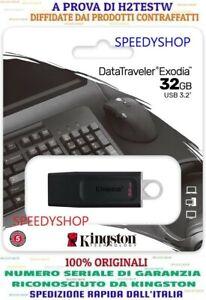 Pen drive usb 3.0 chiavetta kingston 32 gb pennetta penna pendrive DataTraveler
