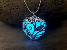 Class of 2019 Graduation Gift for Her Necklace Glow in Dark Heart with Gift Box