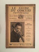 El Guía de La Concierto Y Las Teatro Letra Jules Lemaire N º 12-13-14 1931/32