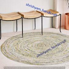 Braided Natural Hand Woven 270x270 CM Handmade Floor Round Jute Carpet Area Rugs