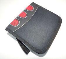10 x CD-Tasche Nylon schwarz mit rot Tasche für CDs/DVDs - 24 CD TOPGESCHENK