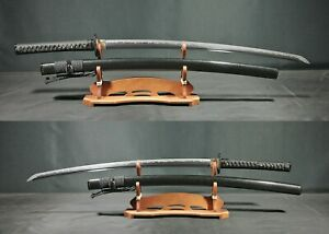 MM608 3A Tamahagane Katana Japanese Sword Clay Tempered Hadori Sashikomi Simon's