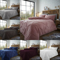 Teddy Pintuck Pleat Fleece Duvet Quilt Cover Set Single Double King Size Bedding