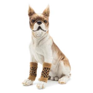 Cotton Winter Keep Warm Dog Puppy Leg Zebra Pets Points Socks Anti Slip Shoes S