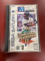 World Series Baseball II (Sega Saturn, 1996) Complete ~Cracked Case