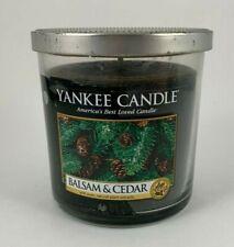 Yankee Candle Balsam & Cedar Scent 7 OZ  Jar Candle Tin Top