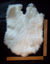 "Californian Rabbit Pelt/Hide/Skin/Fur - White / Crafts, Kids - ""NEW"""