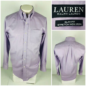 Lauren Ralph Lauren Black Label Mens 14 1/2 - 32/33 Shirt Slim Fit Non Iron