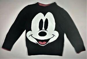 Gap Disney Micky Mouse Sweater Toddler Size 5 Cotton Blend Nylon Rayon CL2117