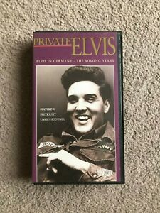 Elvis vhs tape Private Elvis .75 mins . Released 1993 . Elvis in Germany . Rare