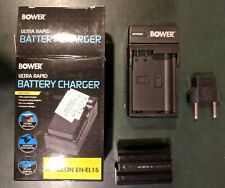 Bower Ultra Rapid Battery Charger and Nikon EN-EL15 Rechargeable Battery