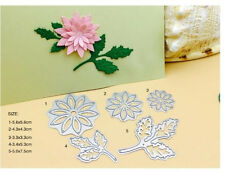 5 pcs Leaves Metal Die Cutting For DIY Scrapbooking Craft Photo Album Card Decor