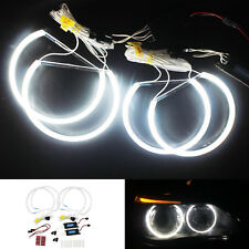 BMW E46 CCFL Angel Eyes Non-projector Head Light Lamps Kit White 2x131mm+2x146mm