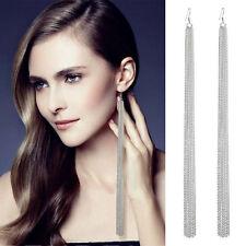 Asos SILVER Tassel Fringe XXL Extra Long massive Chain Long Pierced Earrings