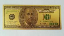 24K GOLD Plated Foil $100 Dollar Bill Collectible Novelty Collection Xmas Gift
