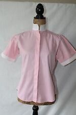 Miku Short Sleeve Pink/White Vented Show Shirt Size 32 (US XS/2)