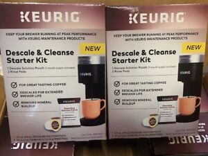 (2 Pack) Keurig Descale and Cleanse Starter Kit