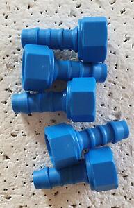 """Set of 5 Tefen 3/8"""" - 3/8"""" BSP Female Swivel Hoset Nylon Fitting PN14-10-38"""