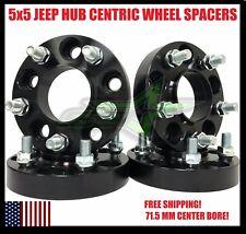 4 Jeep 5x5 Black Hub Centric Wheel Spacers 1.25 Inch 32mm Rubicon Wrangler 5x127