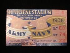 November 28, 1936 Army vs. Navy Football Game Ticket Stub