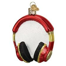 Old World Christmas Headphones (32390)X Glass Ornament w/ Owc Box