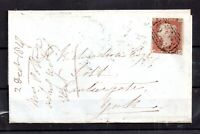 GB QV 1847 1d imperf cover Pontefract to York WS15451