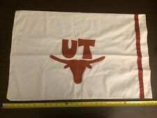 TEXAS LONGHORNS PILLOW CASE - WHITE, BY CLAIRE LYNN DESIGNS ******NEW******🤘