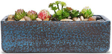 Window Box 10.8 Inch Rectangular Succulent Planter Herb Plant Container Terracot