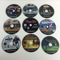 Lot of 9 PS2 Playstation 2 Games Madden Shooter Racing NBA UNTESTED Hg9