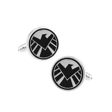 Agents of Shield Stainless Steel Cuff Links Dress Shirt 1 Pair Cufflinks