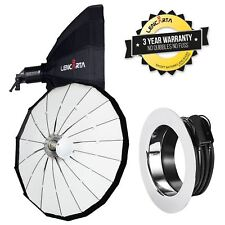 "Folding Beauty Dish 100cm 39.4"" 16-Pole Parabolic Collapsible White for Profoto"