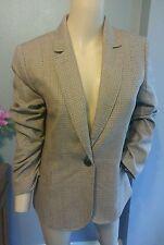 J Crew Houndstooth Wool Preppy Crest Button Blazer Jacket 10