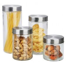 HOME basics 4-Piece Glass Canister Set CS10239