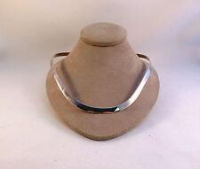 "Silpada Sterling Hard Shell Solid Choker-19"" W/ Clasp & Box"