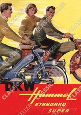 DKW Hummel Standard Super Moped Poster Plakat Bild Schild Affiche Deko Reklame